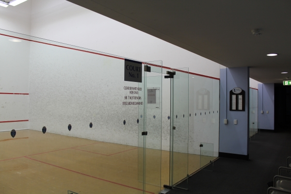 Bond University squash courts resurfaced - 9 September 2013